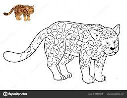 coloring book for children jaguar photo by ksenya savva