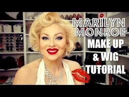 marilyn monroe makeup tutorial wig by cidy la creme how to diy 1950s pinup you