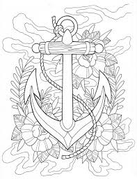 anchor clipart coloring page 5
