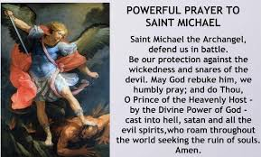 Image result for st michael the archangel prayer