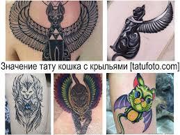 значение тату кошка с крыльями смысл фото рисунков эскизы