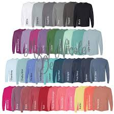 Comfort Colors 4410 All Color Chart Etsy Color Chart Tshirt Color Chart Comfort Color Digital File Shirt Color Chart