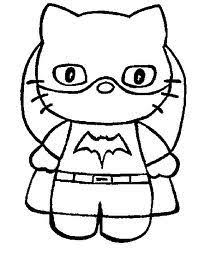 All of it in this site is free, so you can print them as many as you like. Hello Kitty As Batgirl Printable Coloring Page Kitty Coloring Hello Kitty Colouring Pages Hello Kitty Coloring