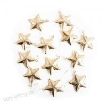 12 Kleine Gold Farbene Sterne Anhä Nger 4 Cm Metall Sterne