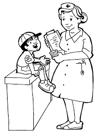 Small Picture Nurses And Little Kids Coloring Pages Printables 2 Pinterest
