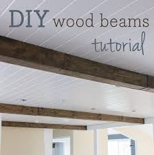 faux ceiling beams diy.  Ceiling Wood Beams Were High On My Wish List When We House Hunting Theyu0027re  Actually Pretty Common In This Area And I Was Able To Look Past The Lack Of Them  Throughout Faux Ceiling Beams Diy Jenna Sue Design  Co