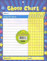 Basic Chore Chart Pad Of 25 Sheets With Stickers Learning