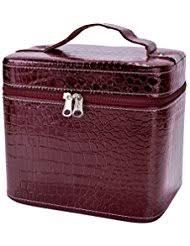 coofit beauty box crocodile pattern leather makeup case