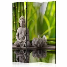 Behang Winkelonlinenl Vouwscherm Boeddha Meditatie 135x172cm