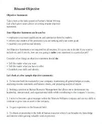 Objective On A Resume Examples Curriculum Vitae Objectives Resume ...