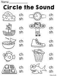 The phonics worksheets on this page lay the picture cards on the table in two groups: Pin On Education
