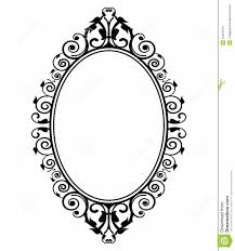 Mirror Frame Outline Ornate Oval Pinterest Frame Outline Yellow Frame Framed Tattoo Printable Frames