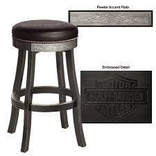 Harley Davidson HDL V Bar & Shield Flames Bar Stool