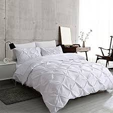 Amazon.com: Ucharge Unique Pinch Pleat Pintuck Duvet Cover Set,3 ... & Ucharge Unique Pinch Pleat Pintuck Duvet Cover Set,3 Pieces Decorative  Stylish Brushed Microfiber Bedding Adamdwight.com