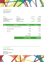 sample invice 100 free invoice pdf templates print email
