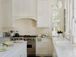 Kitchen Backsplash Design, Decorated Very Coolest Clean Whiteness Clear  Water Tapping Subway Tile Kitchen Backsplash