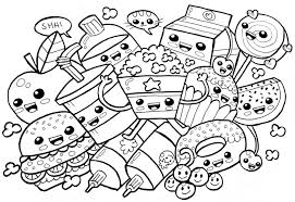 See more ideas about coloring pages, food coloring pages, food coloring. Coloring Pages Kawaii Food Snack Coloring Pages