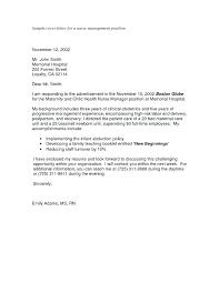 Nursing Application Cover Letter – Armni.co