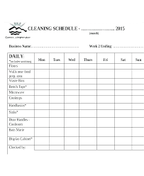 Daily Weekly Schedule Template Mesmerizing Daily Rota Template Cleaning Work Schedule Word Simple Planner Of