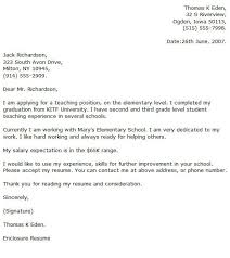 Example Cover Letter For Teaching Position Elementary Teacher Cover Letter Examples Cover Letter Now