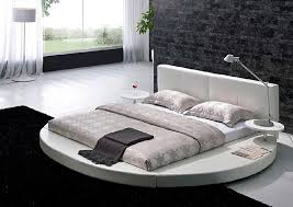 Many circular beds are almost asian in style as they are so close to the  floor.