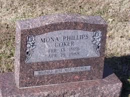 Mona Atrice Phillips Coker (1926-1988) - Find A Grave Memorial