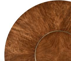 transitional 72 inch round dining table with built in lazy susan 5