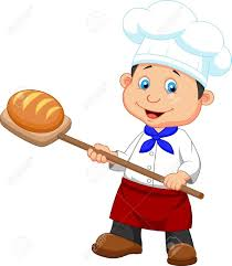 Illustration Of Cartoon A Baker With Bread Royalty Free Cliparts ...