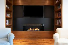 putting an electric fireplace and tv on