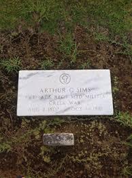 Arthur Coleson Sims (1806 - 1881) - Genealogy