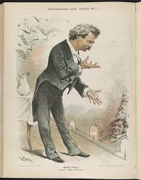mark twain ii national endowment for the humanities mark twain america s best humorist lithograph c1885