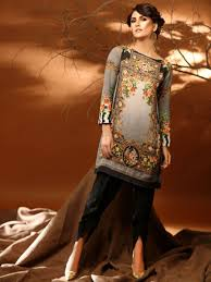 Pakistani Silk Kurtis Designs Sobia Nazir Satin Silk Kurti Silk Kurti Dress Collection