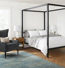 cheap wooden canopy bed frames suitable combine with queen bed frame ...