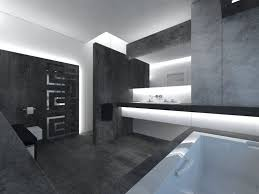 contemporary gray and white bathroom design ideas with brilliant lighting and lighted bathroom vanity and mirror set
