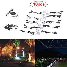 Cheap Landscape Lighting Kits Us 30 63 35 Off Evcelvan 10pc Led Deck Lights Kit Landscape Lighting 12v Waterproof Ip67 Deck Ground Light For Outdoor Stair Garden Wood Floor In