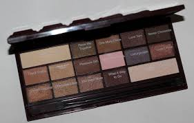 makeup revolution i heart chocolate eye shadow palette review swatches photos 3