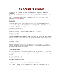 crucible essay twenty hueandi co crucible essay