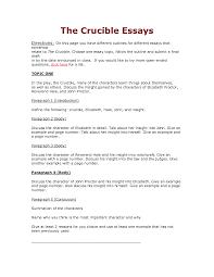 crucible essay twenty hueandi co crucible essay