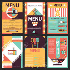 Abstract Menu Design Abstract Modern Restaurant Menu List Designs Set With Decorative