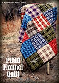 Quilt Patterns For Men Gorgeous Plaid Flannel Quilt Pink Polka Dot Creations
