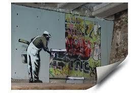 <b>Banksy</b> Street <b>Graffiti Wallpaper</b> Roller <b>HD</b> Vinyl Wall Art Decal Poster