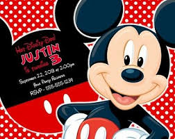 mickey mouse party invitation mickey mouse birthday party invitations invites personalized