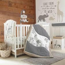 baby animal sketch crib bedding