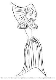 Small Picture Learn How to Draw Angie from Shark Tale Shark Tale Step by Step