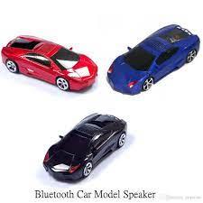 Toptan Şık Ve Ucuz Bluetooth Hoparlörler FM Radyo Araba Şekli Mini  Taşınabilir Hoparlör Desteği USB TF Kart Stereo MP3 Müzik Çalar Bas Kid  Hediye Ses Kutusu