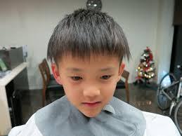 子供の髪のセット男の子編 安佐南区のオシャレな理容室散髪屋