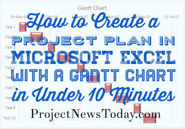 Ms Project Gannt Chart Create Project Plan In Ms Excel With A Gantt Chart In Under