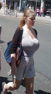 Street big tits boobs