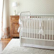 neutral nursery with white rug