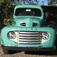 1950 Ford F-1. It has the original flathead V8 engine and 4 speed ...